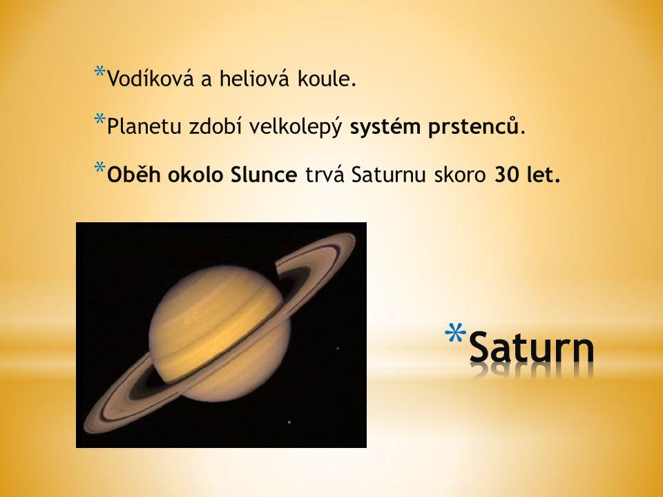 Saturn Vodíková a heliová koule.