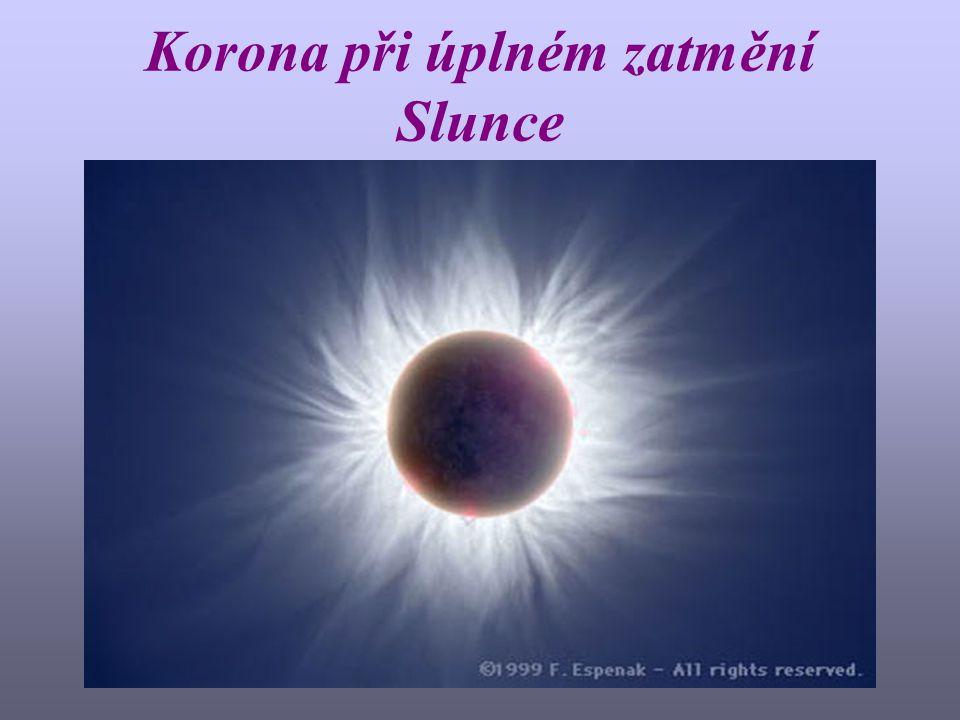Korona při úplném zatmění Slunce