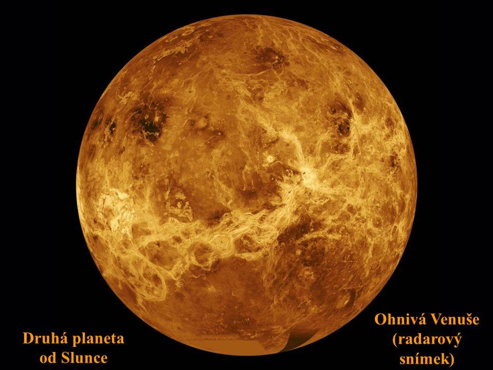 Ohnivá Venuše (radarový snímek) Druhá planeta od Slunce