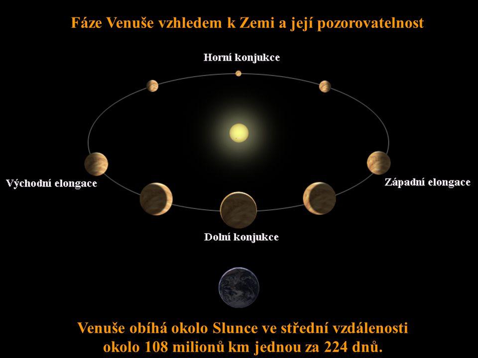Fáze Venuše vzhledem k Zemi a její pozorovatelnost