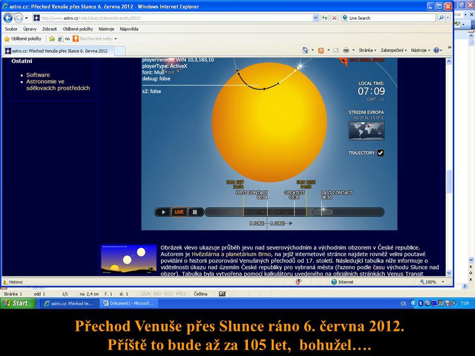 Přechod Venuše přes Slunce ráno 6. června 2012