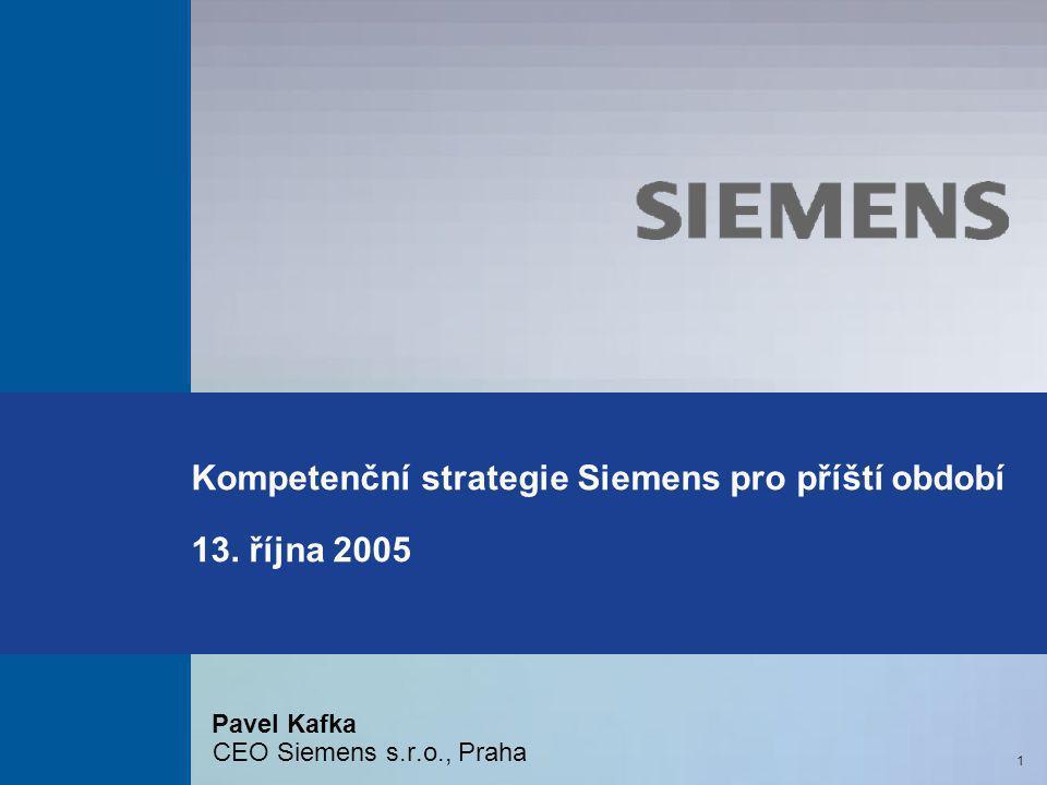 Kompetenční strategie Siemens pro příští období 13. října 2005