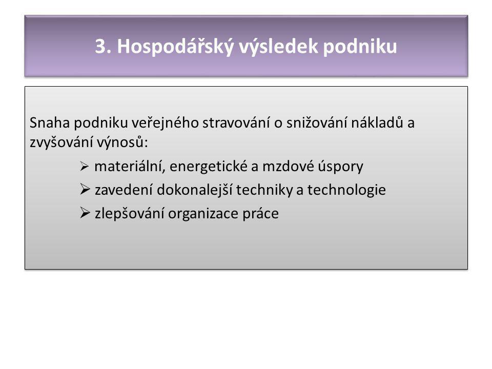 3. Hospodářský výsledek podniku