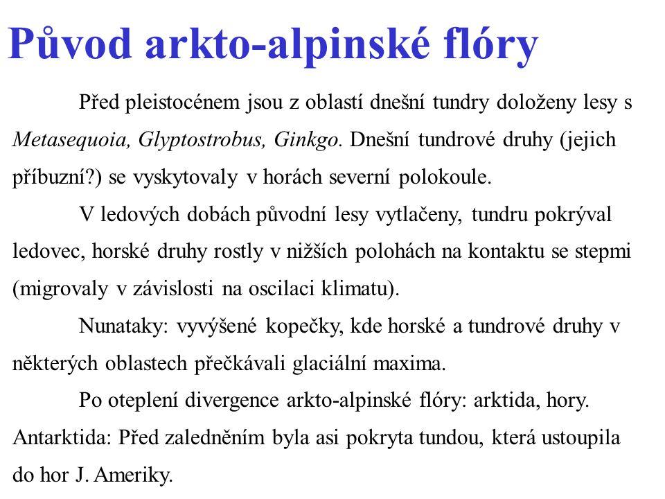 Původ arkto-alpinské flóry
