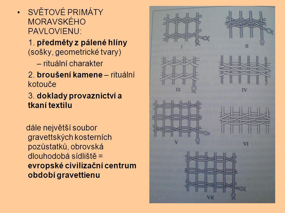 SVĚTOVÉ PRIMÁTY MORAVSKÉHO PAVLOVIENU: