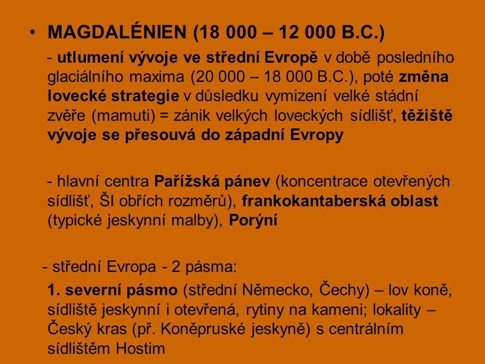 MAGDALÉNIEN (18 000 – 12 000 B.C.)