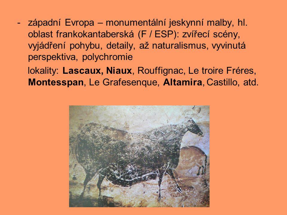 západní Evropa – monumentální jeskynní malby, hl