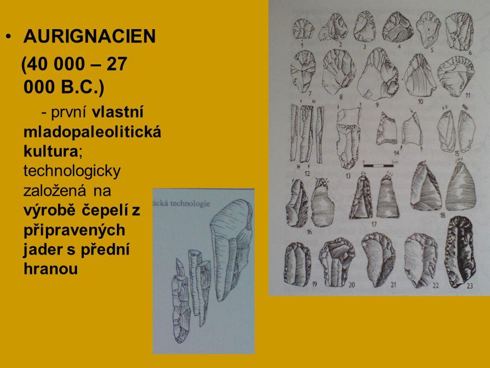 AURIGNACIEN (40 000 – 27 000 B.C.)