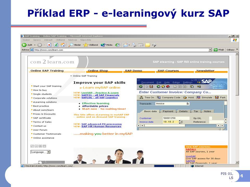 Příklad ERP - e-learningový kurz SAP