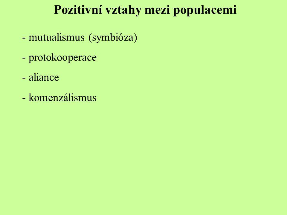 Pozitivní vztahy mezi populacemi