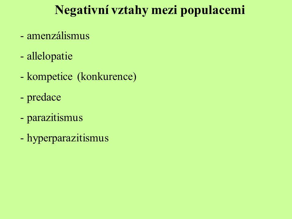Negativní vztahy mezi populacemi