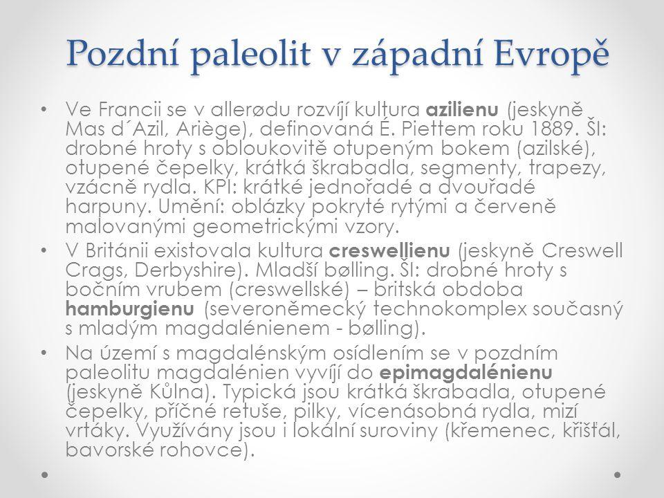 Pozdní paleolit v západní Evropě