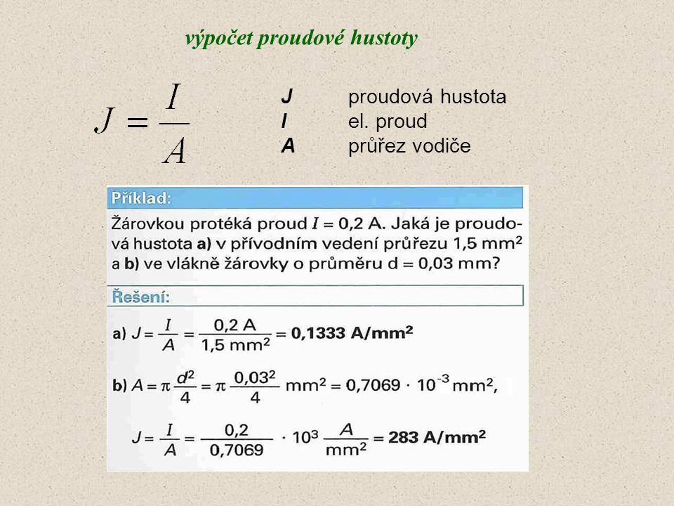 výpočet proudové hustoty