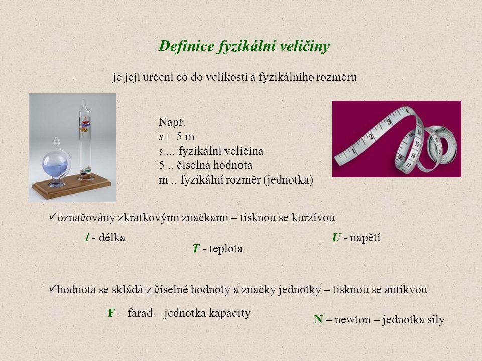 Definice fyzikální veličiny
