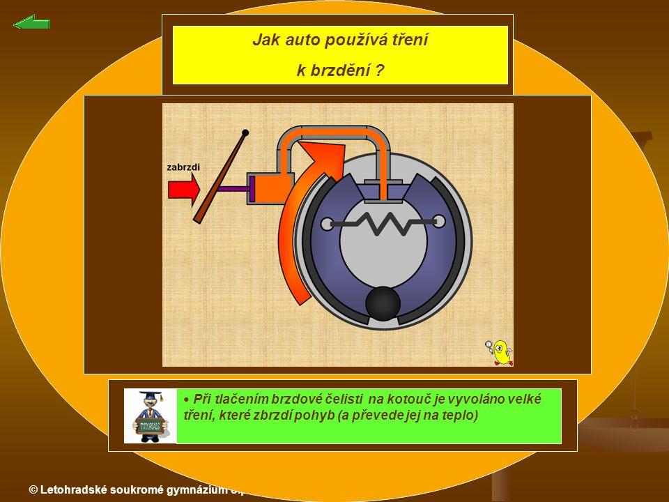 Jak auto používá tření k brzdění