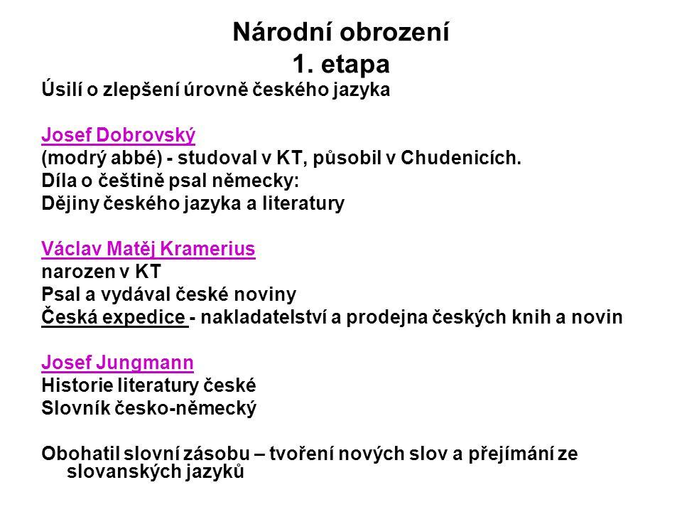 Národní obrození 1. etapa