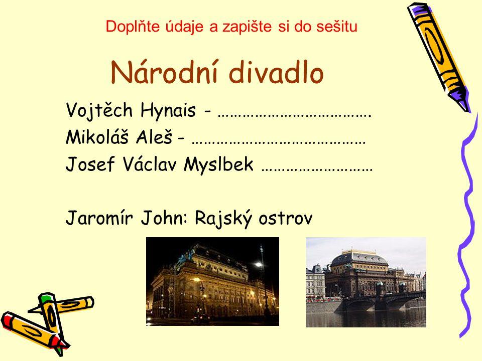 Národní divadlo Vojtěch Hynais - ……………………………….