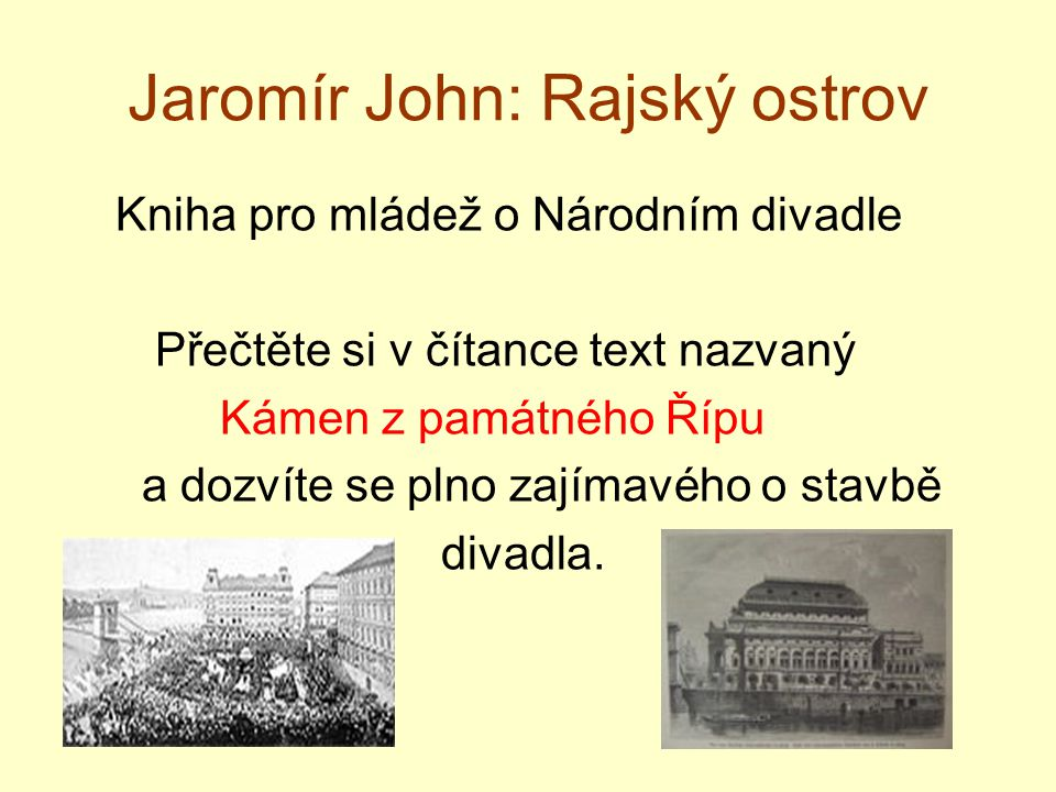 Jaromír John: Rajský ostrov