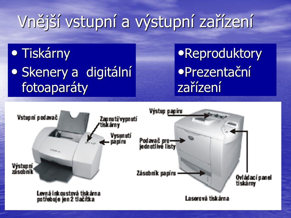Vnější vstupní a výstupní zařízení