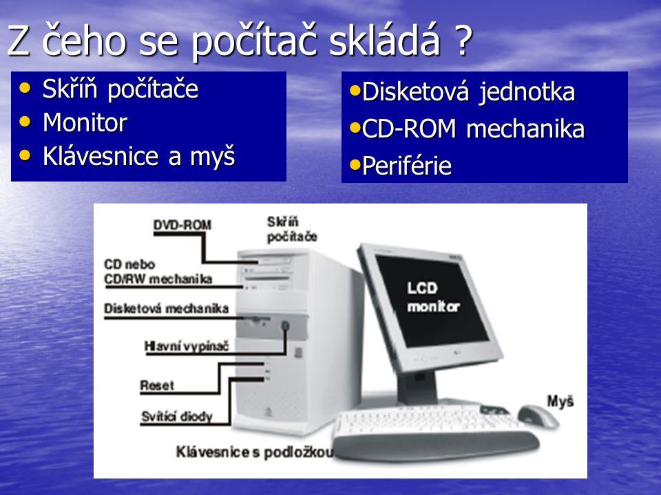 Z čeho se počítač skládá