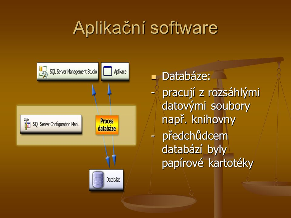 Aplikační software Databáze: