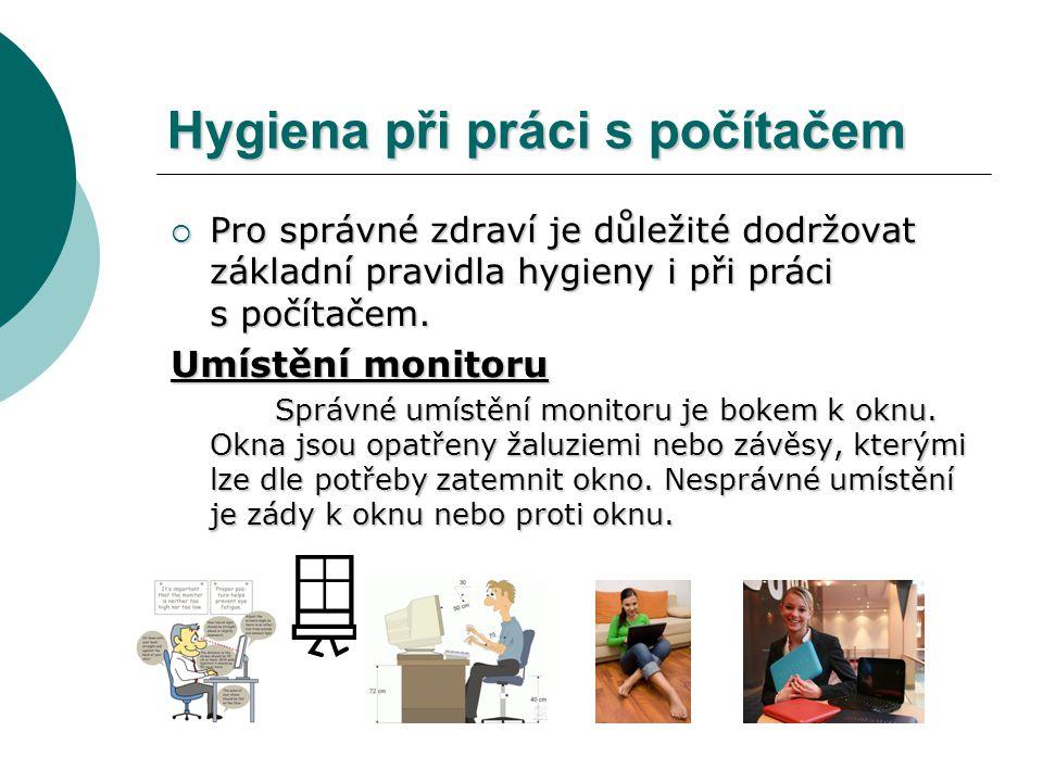 Hygiena při práci s počítačem