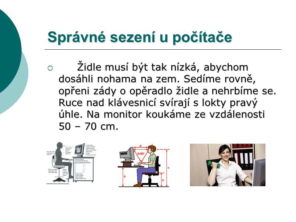 Správné sezení u počítače