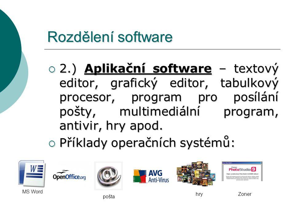 Rozdělení software