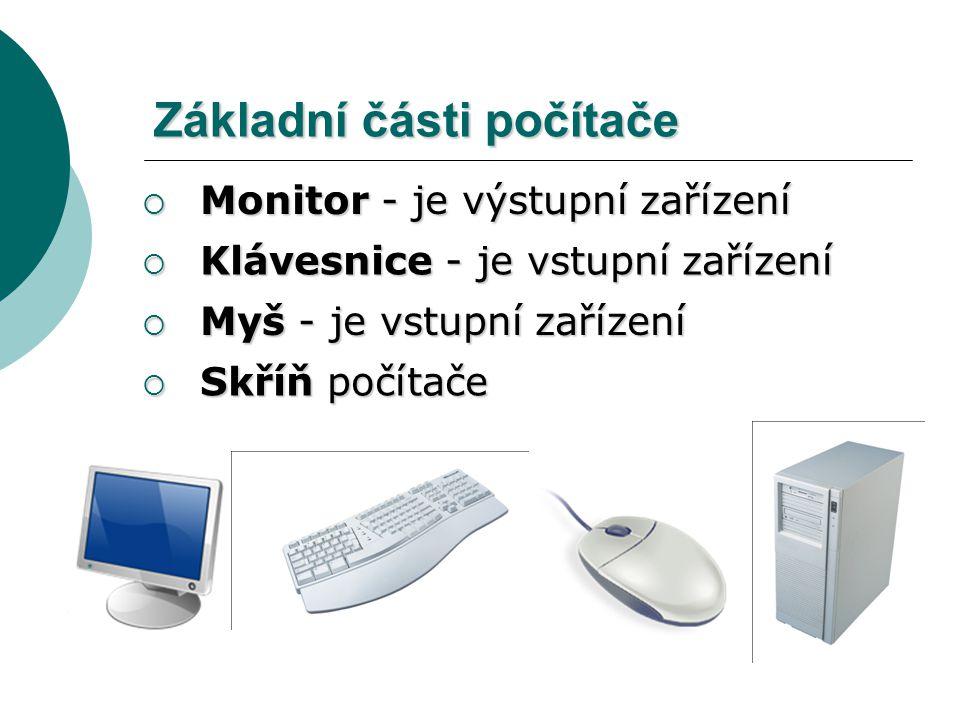 Základní části počítače