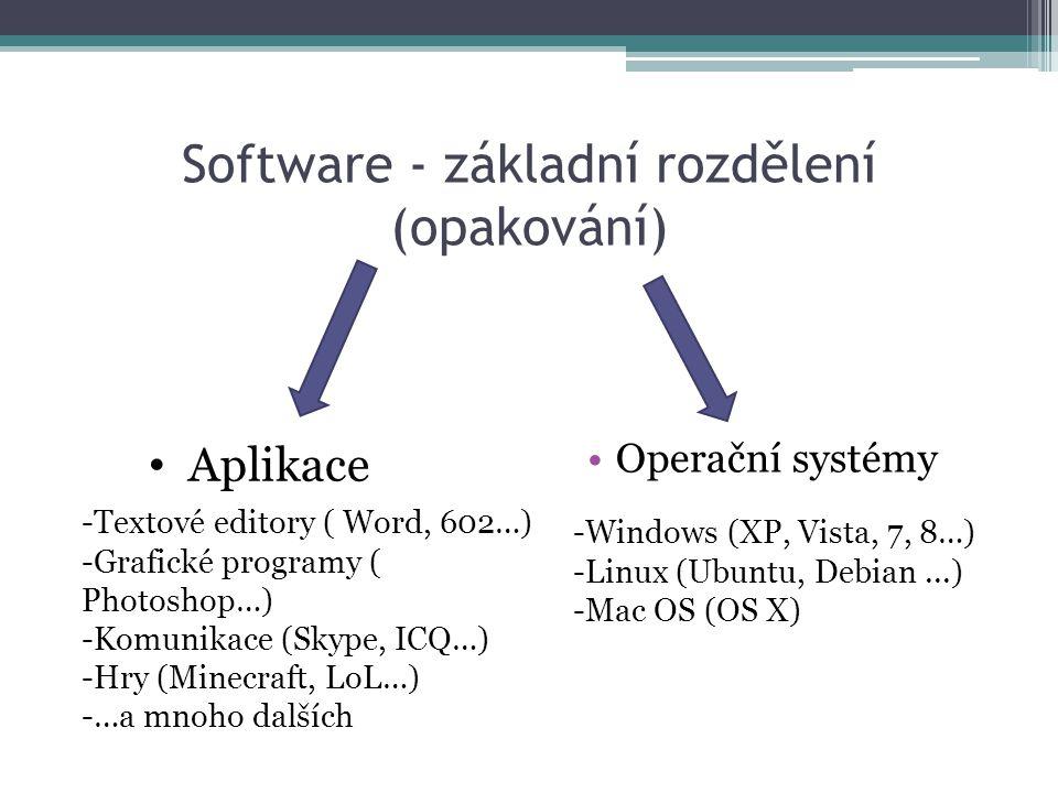 Software - základní rozdělení (opakování)