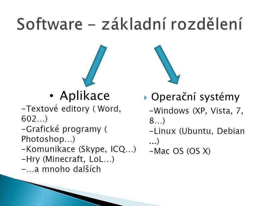 Software - základní rozdělení