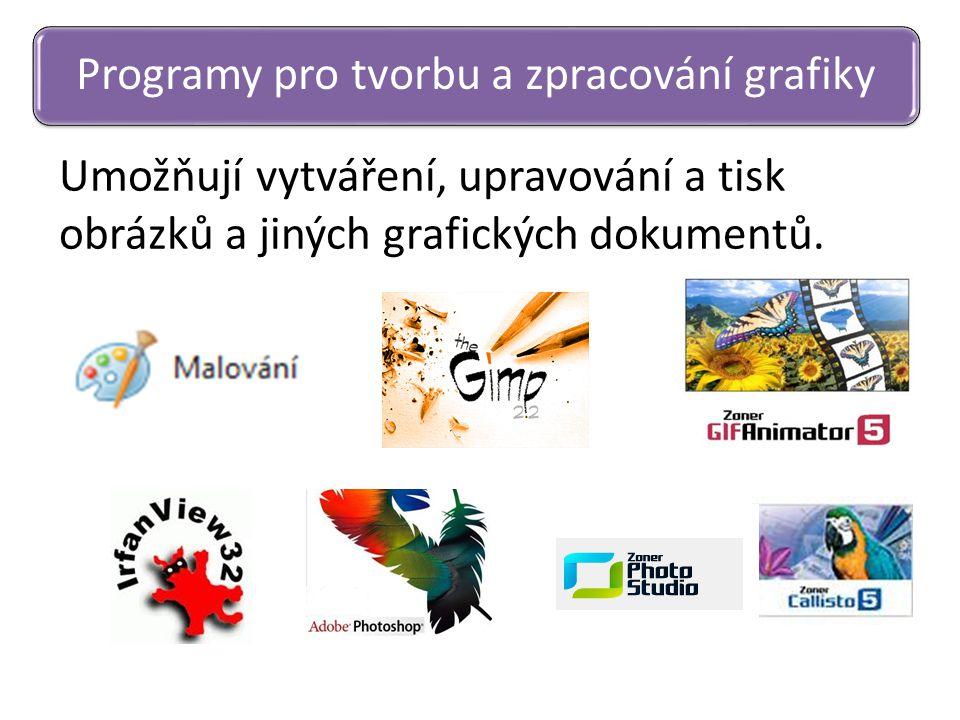 Programy pro tvorbu a zpracování grafiky