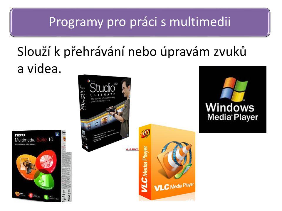 Programy pro práci s multimedii