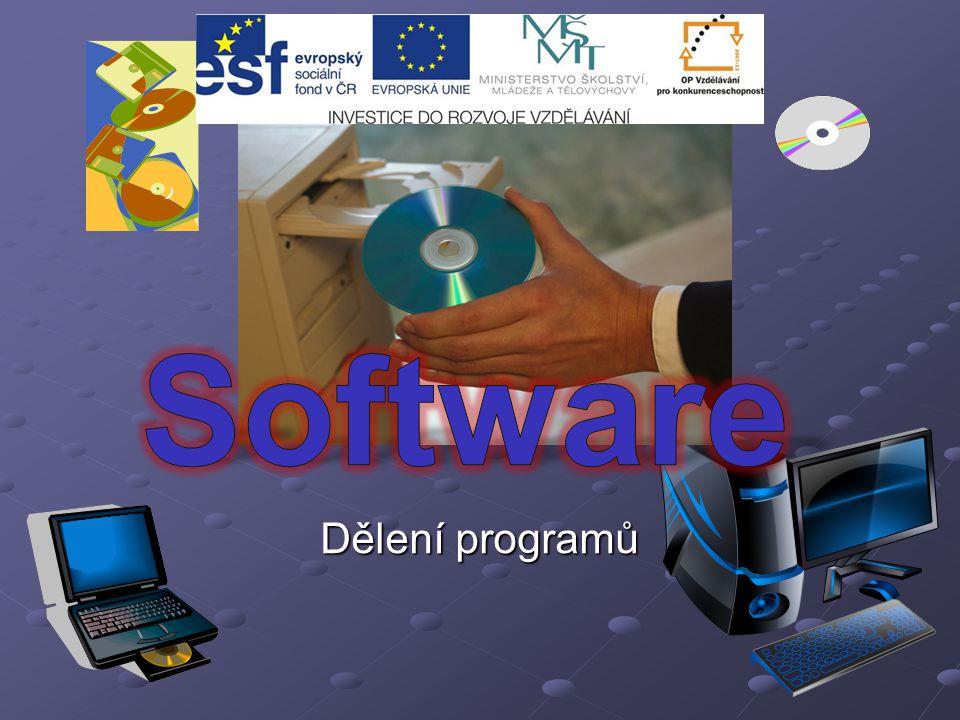 Software Dělení programů