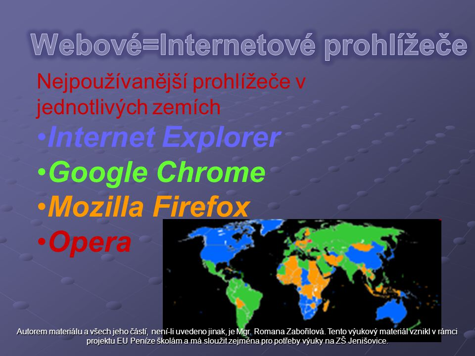 Webové=Internetové prohlížeče