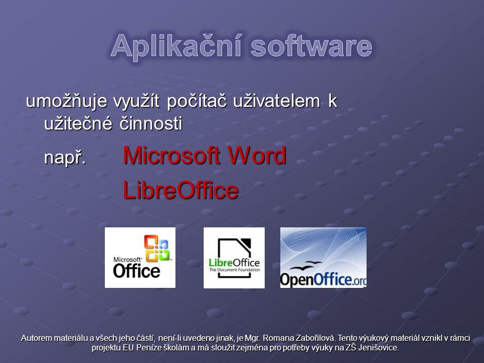 Aplikační software LibreOffice