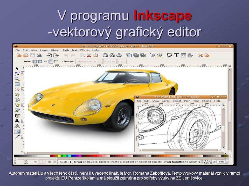 V programu Inkscape -vektorový grafický editor