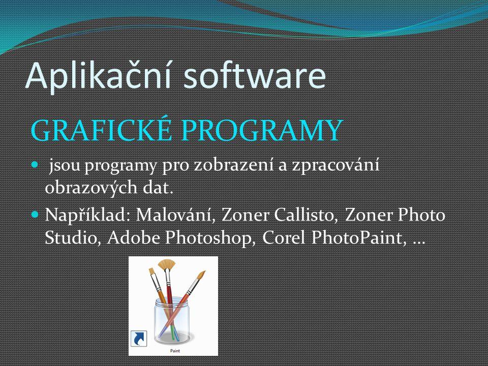 Aplikační software GRAFICKÉ PROGRAMY