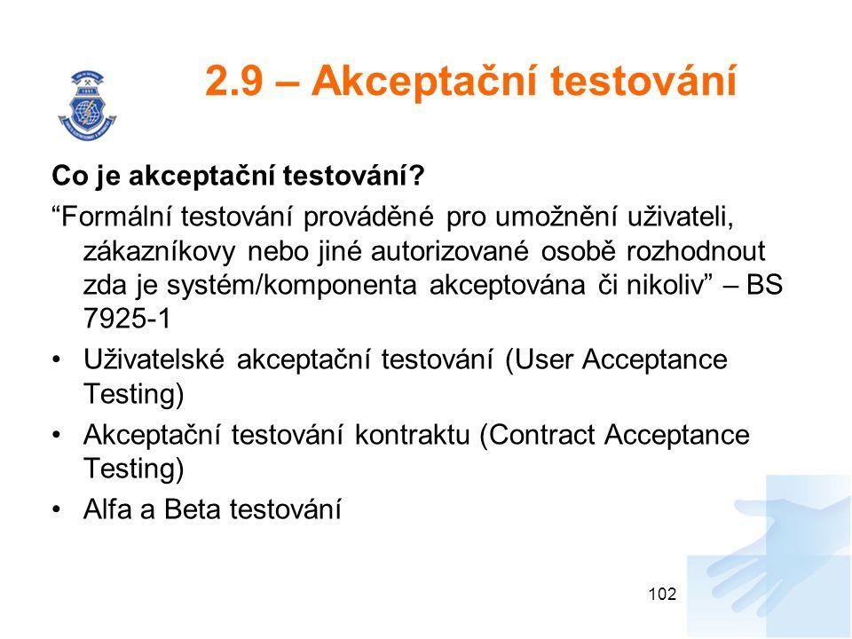 2.9 – Akceptační testování