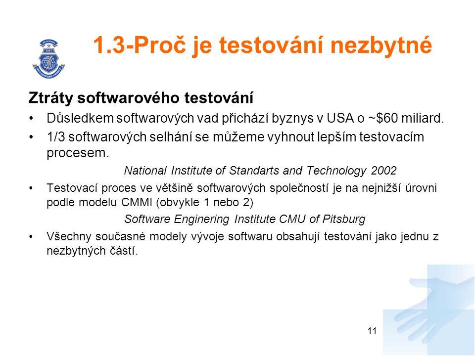 1.3-Proč je testování nezbytné