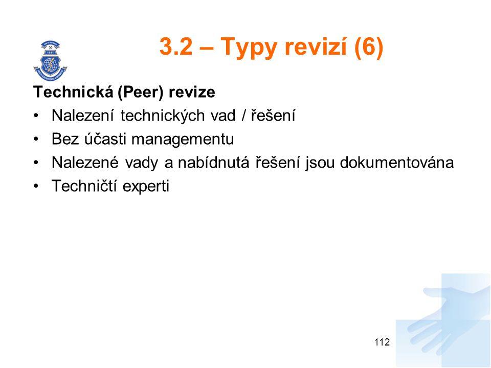 3.2 – Typy revizí (6) Technická (Peer) revize
