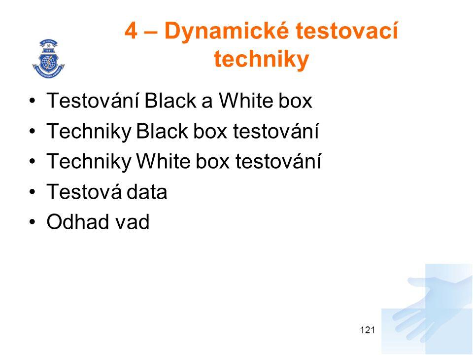 4 – Dynamické testovací techniky