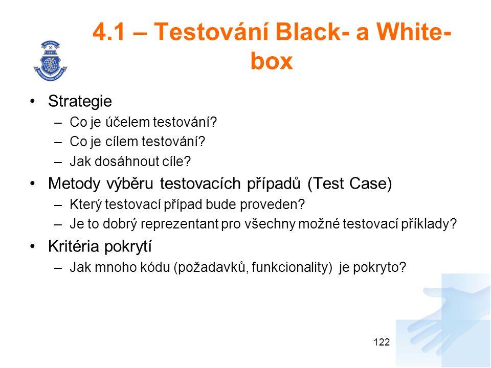4.1 – Testování Black- a White-box
