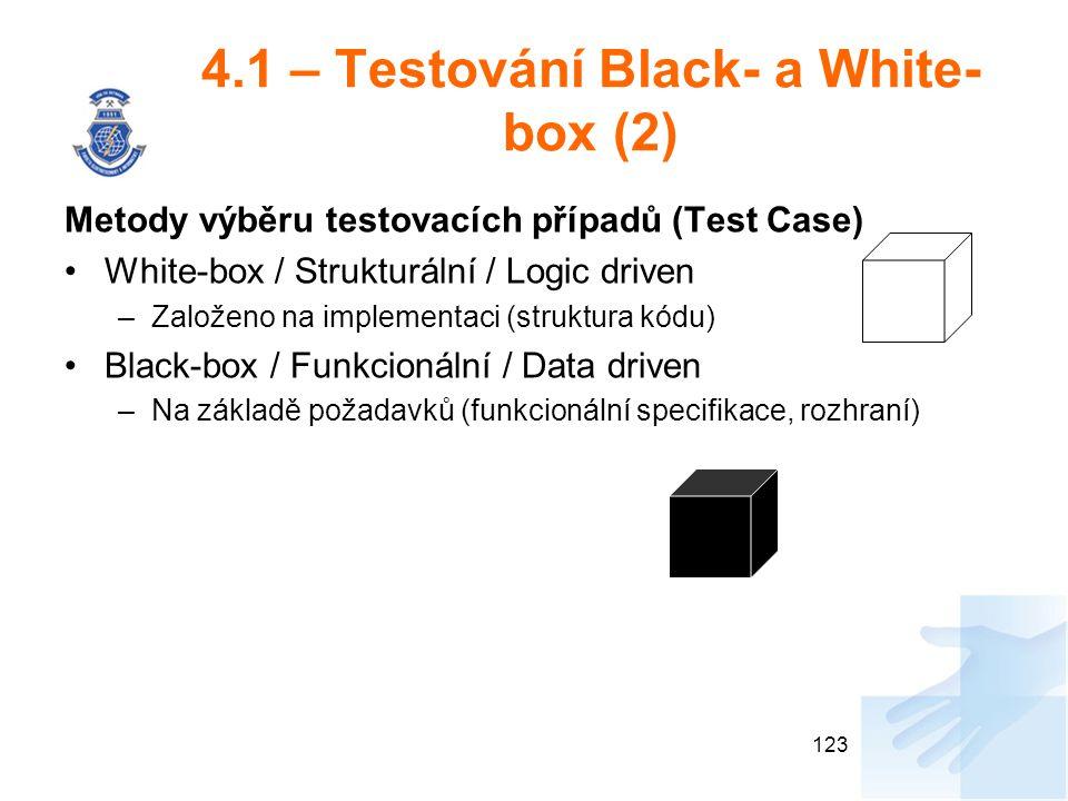 4.1 – Testování Black- a White-box (2)