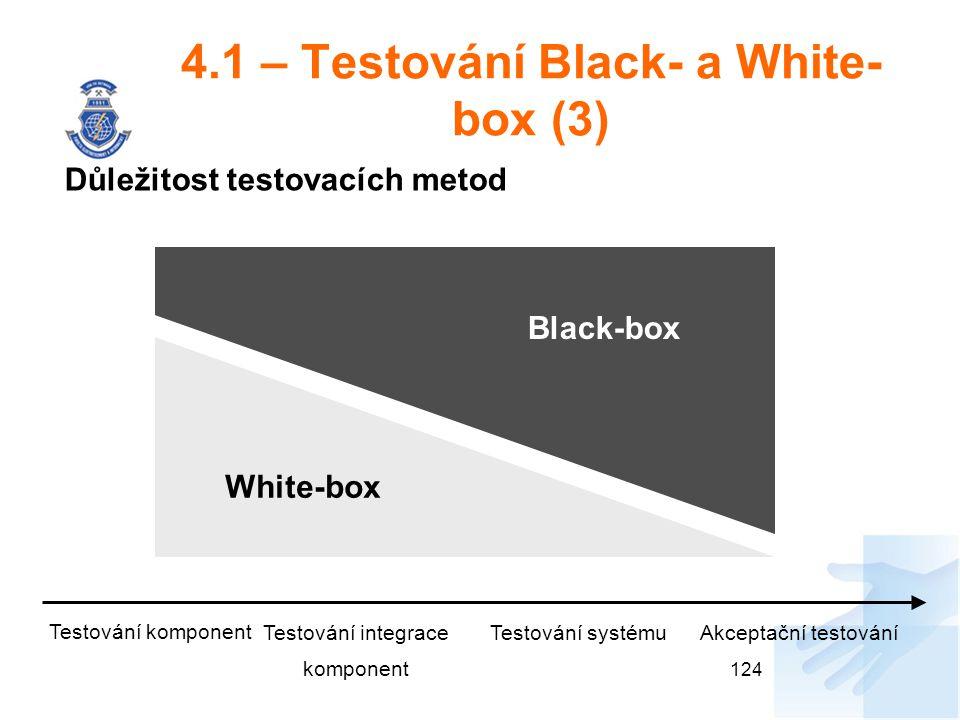 4.1 – Testování Black- a White-box (3)