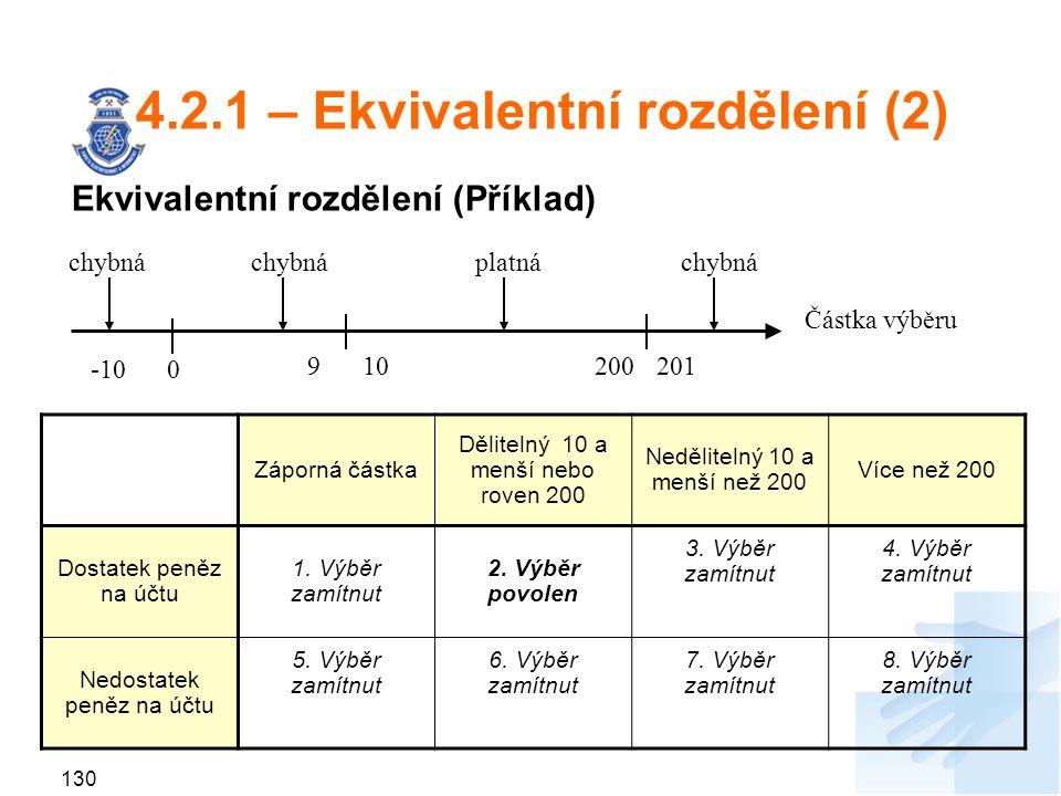 4.2.1 – Ekvivalentní rozdělení (2)