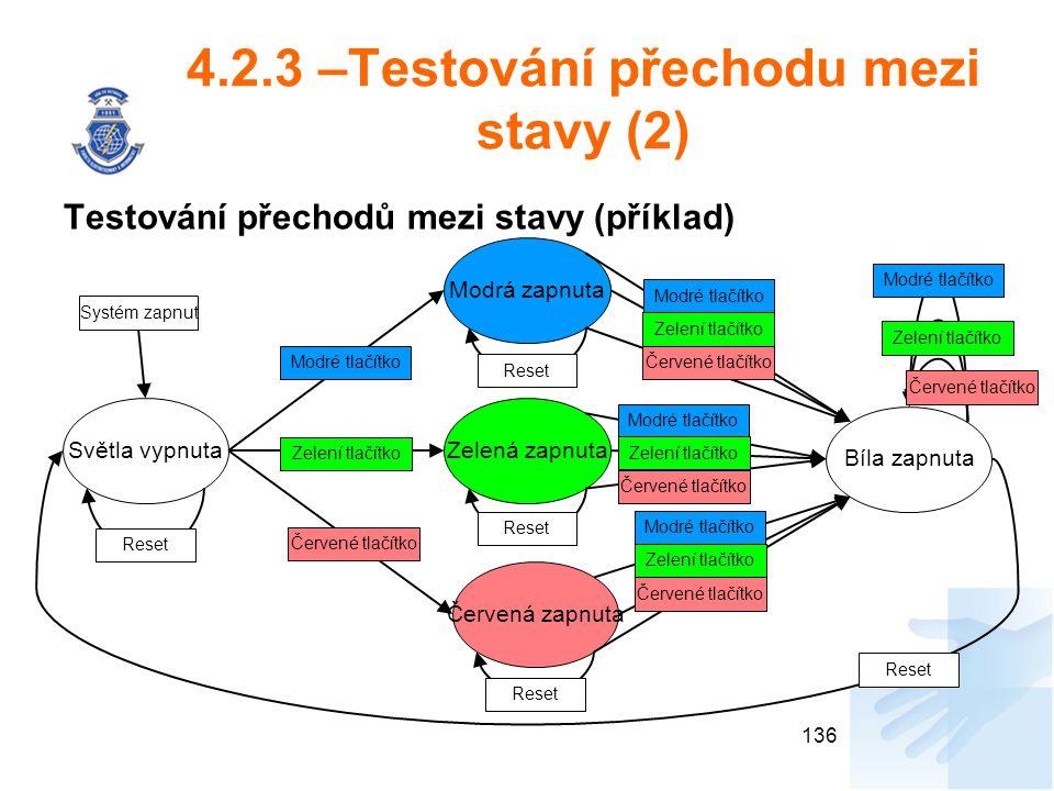 4.2.3 –Testování přechodu mezi stavy (2)