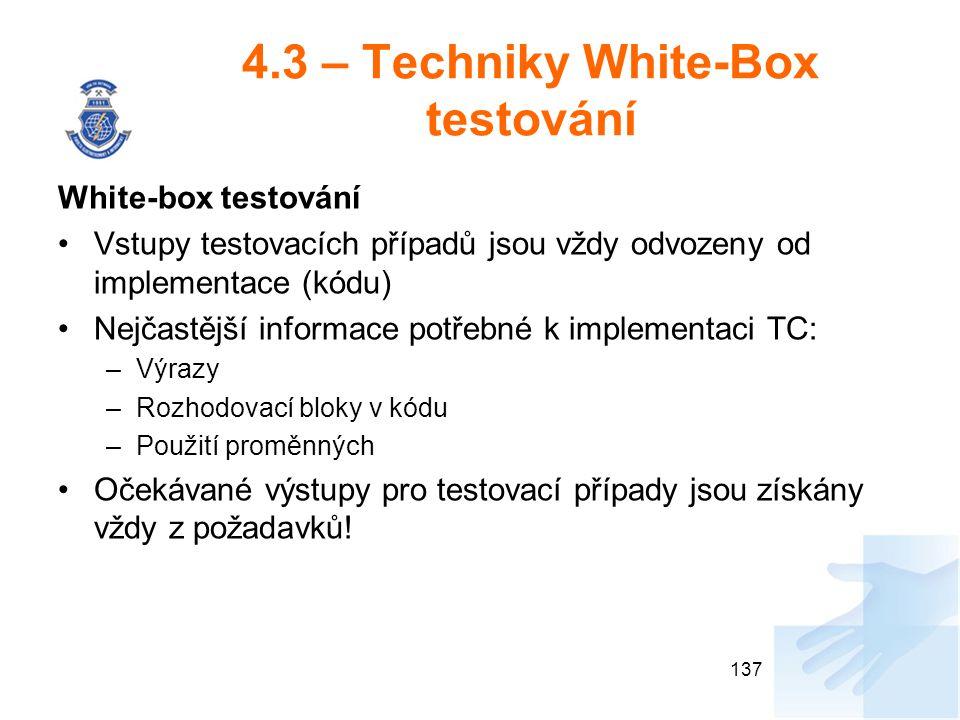 4.3 – Techniky White-Box testování