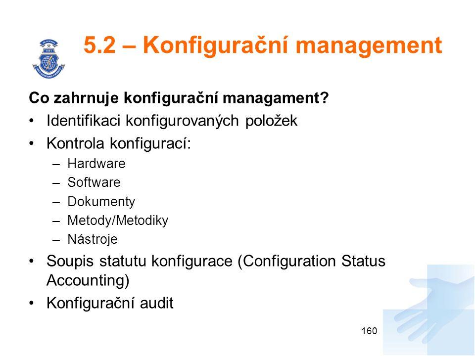 5.2 – Konfigurační management