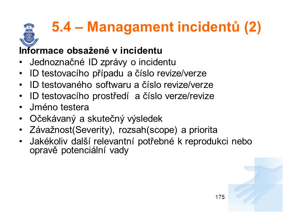 5.4 – Managament incidentů (2)